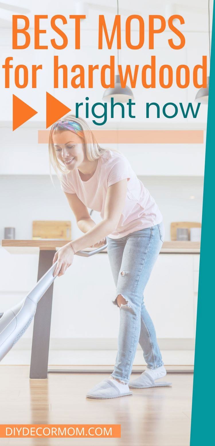 mom mopping floors with cordless steam mop