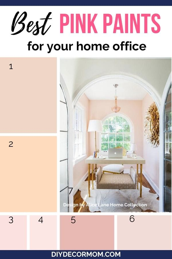 best pink paint colors for home offices to boost creativity and focus