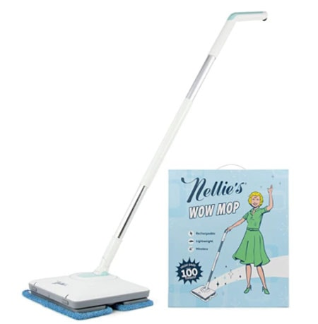 nellies cordless mop for hardwood floors with microfiber pads