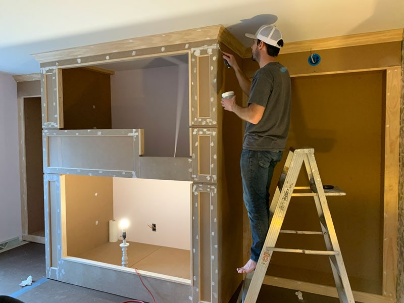 how to build built-in bunk beds