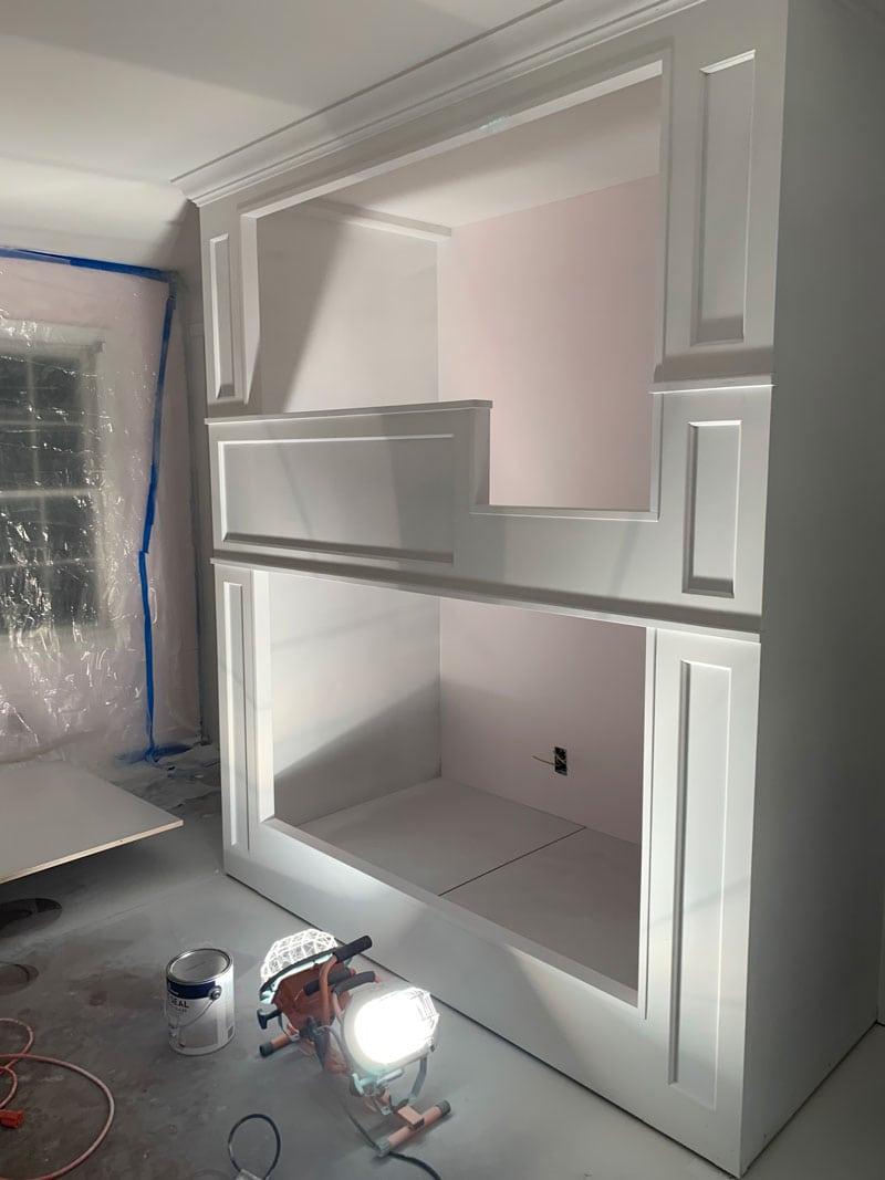 primer applied to diy bunk beds