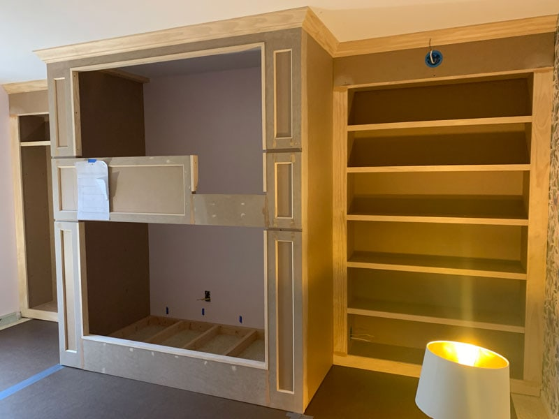 diy built-in bookcases and diy built-in bunk bed
