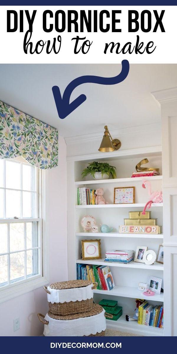 diy fabric covered window cornice board