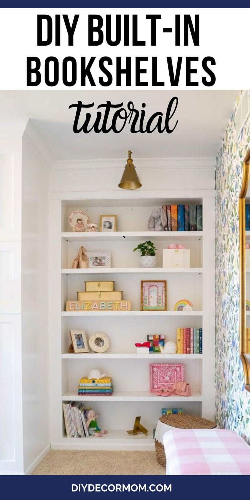 building DIY built-in bookcase
