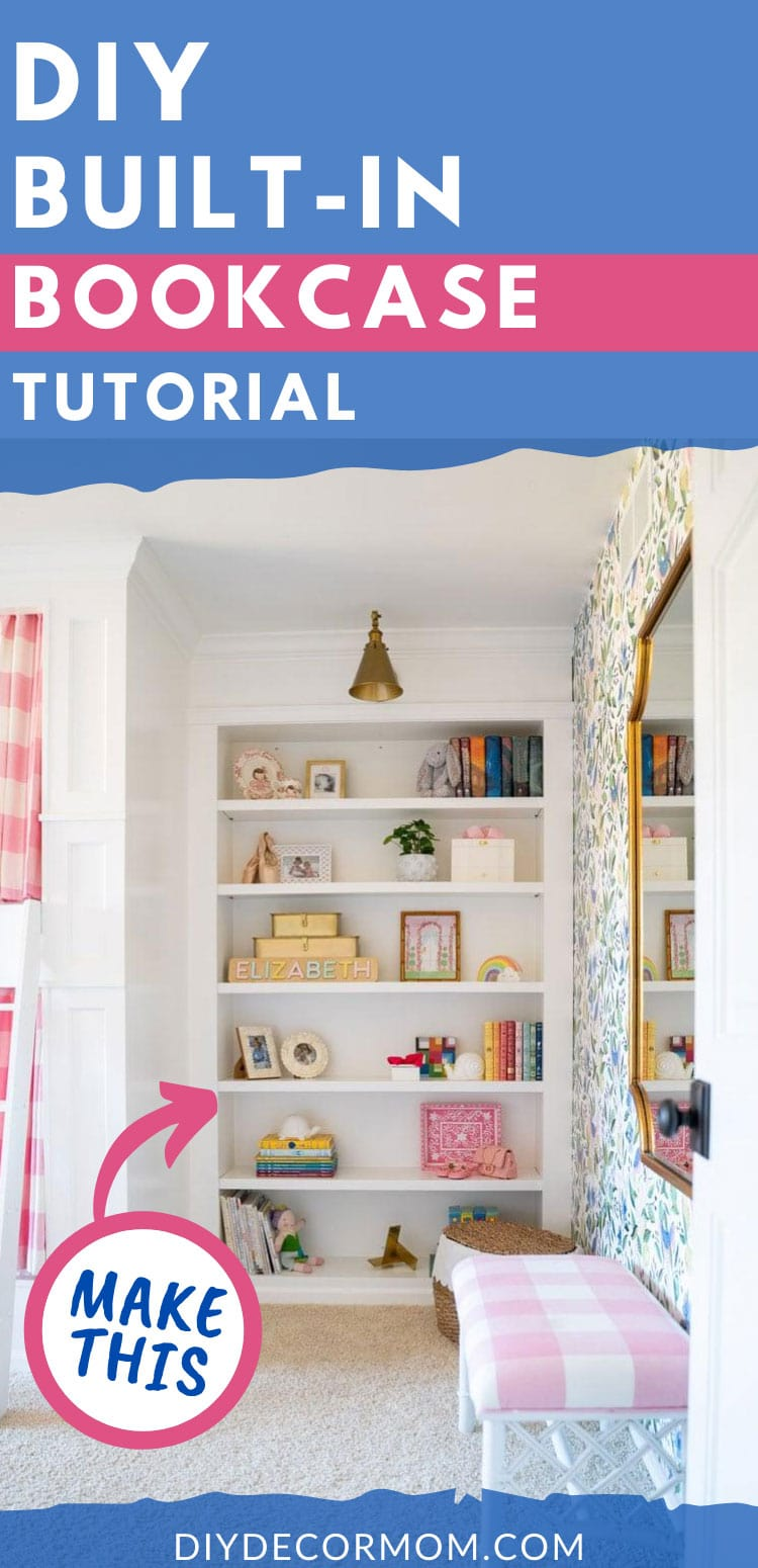 how to build built-in bookcase