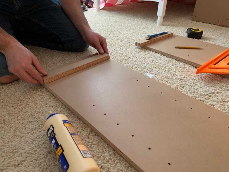 how to build the frame of a built-in bookcase