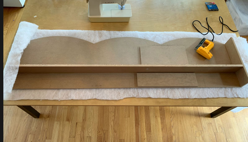learn how to make a fabric covered scalloped window cornice