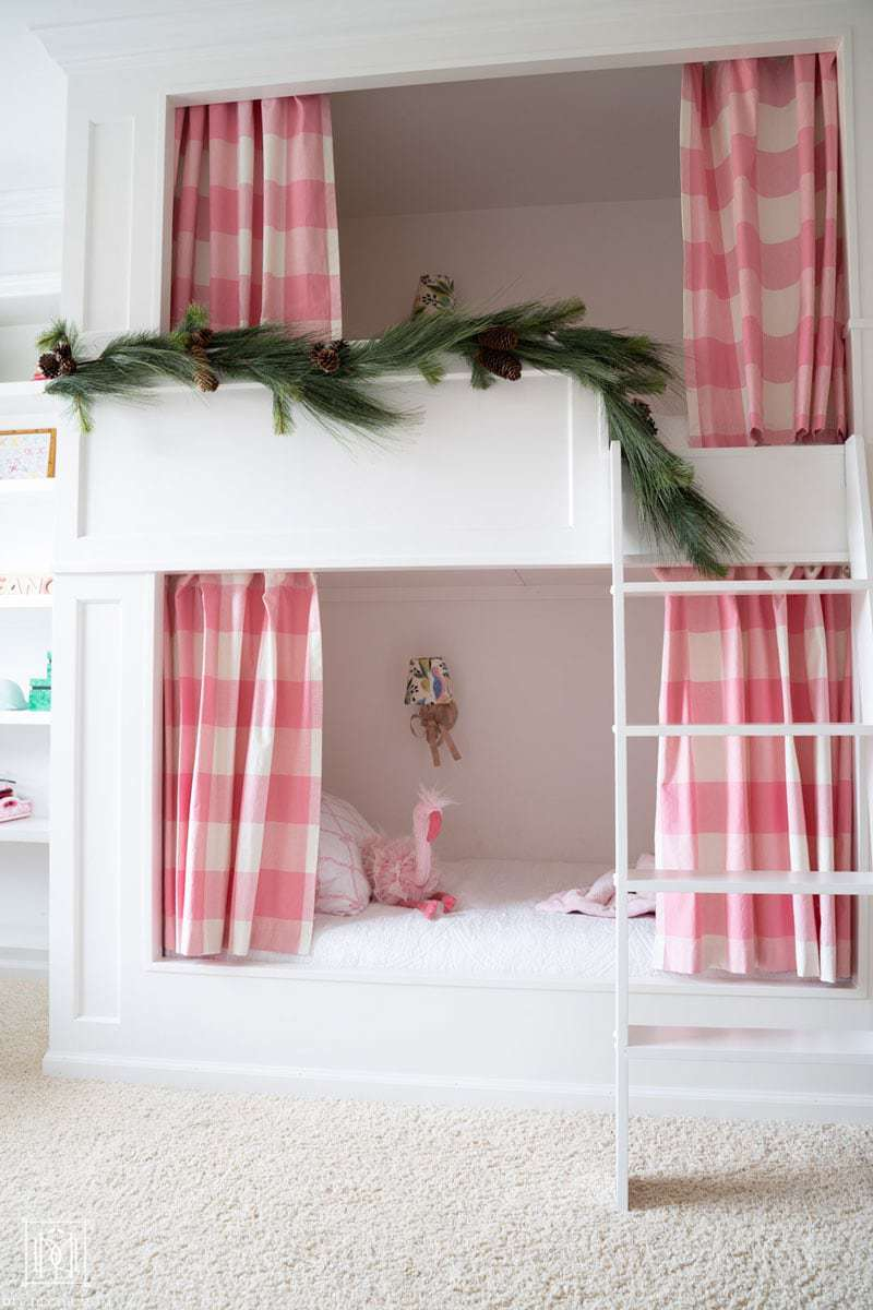 bunk beds with garland