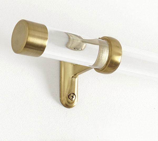 extruded acrylic curtain rod- inexpensive premade curtain rod