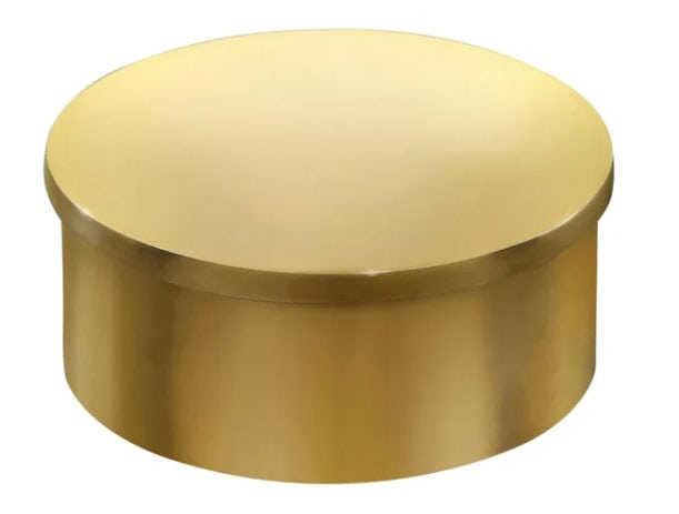 brass inset cap for curtain rods