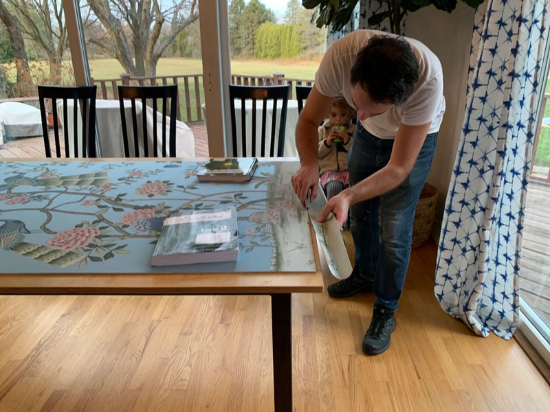 how to mount a diy chinoiserie panel by yourself