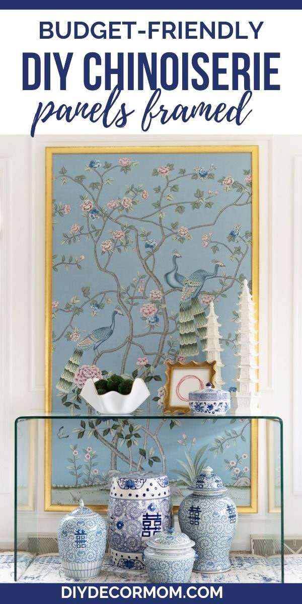 tutorial for framing your own chinoiserie panels