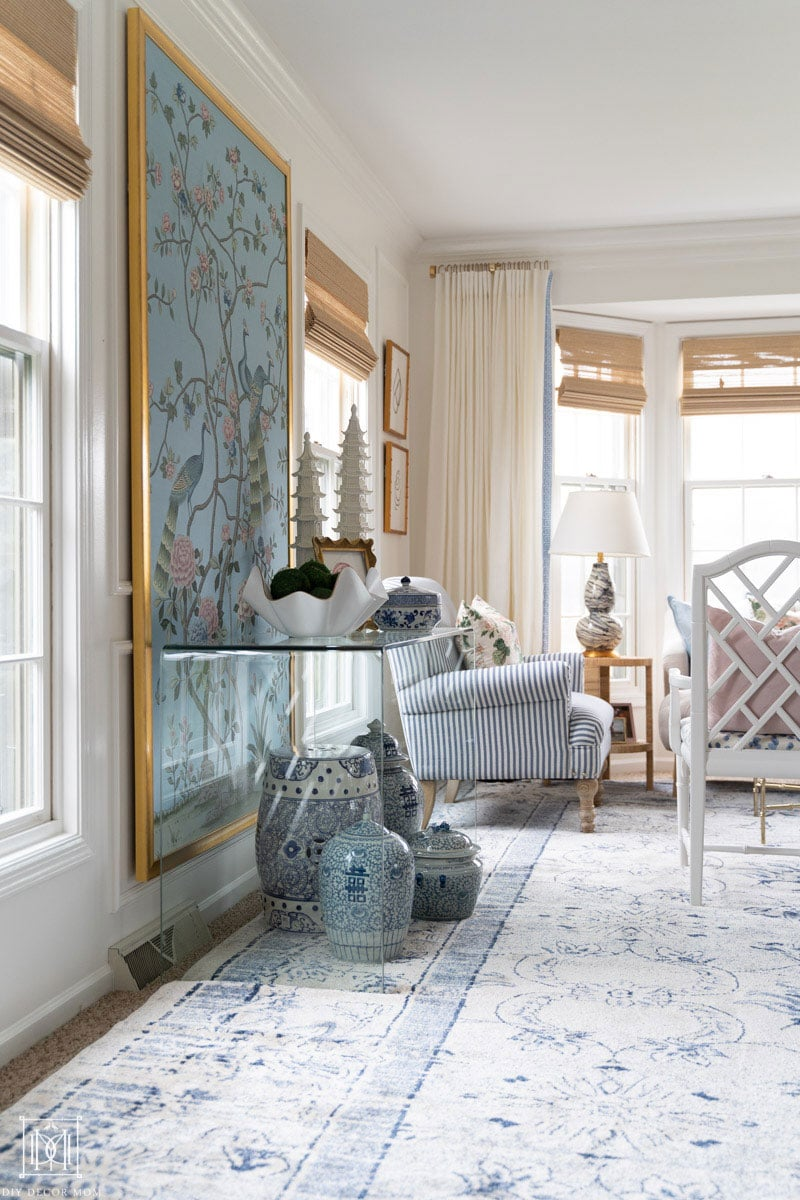 how to frame a chinoiserie print