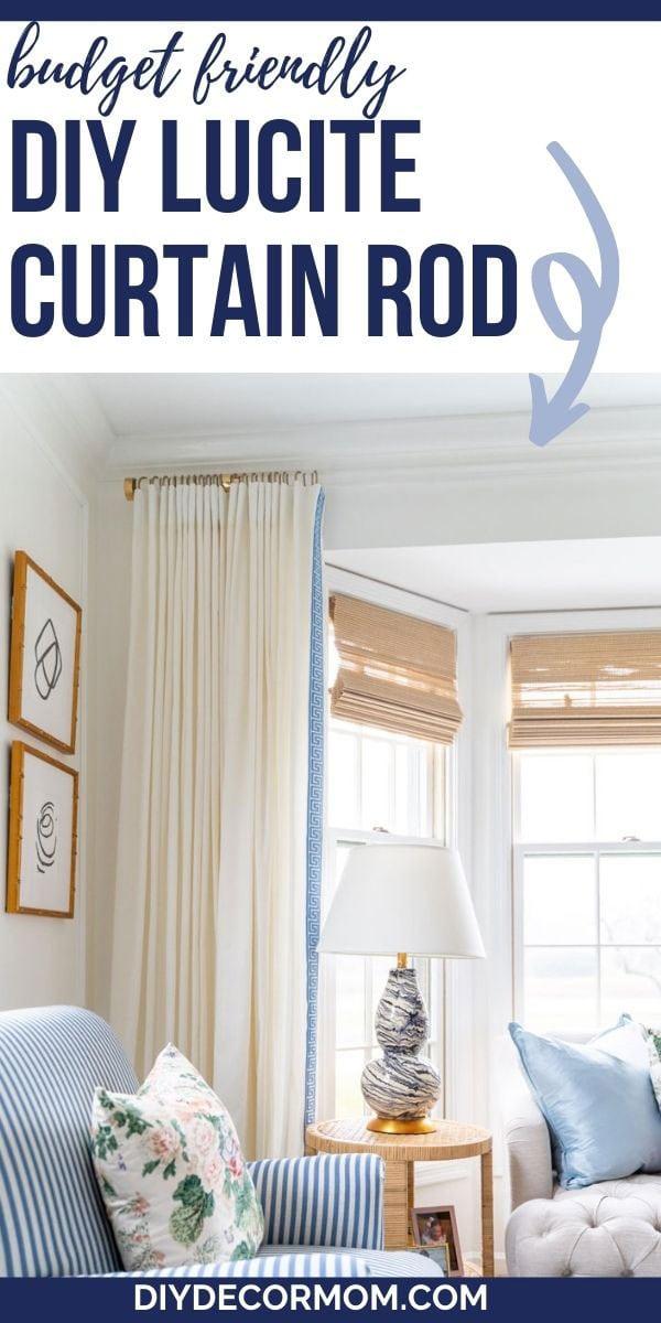 how to make an acrylic curtain rod