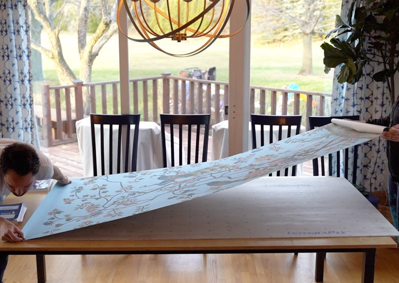 how to mount a silk chinoiserie print to a backer board